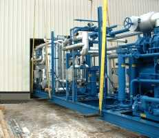 Pre-fabricated skidded units allow rapid installation of liquid carbon dioxide production system