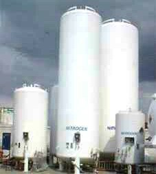 LOX/ LIN/ LAR Customer Station Cryogenic Storage Tanks for liquid oxygen, liquid nitrogen and liquid argon service